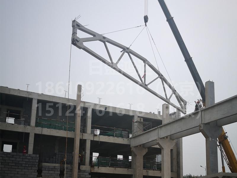 混凝土组织屋架吊装